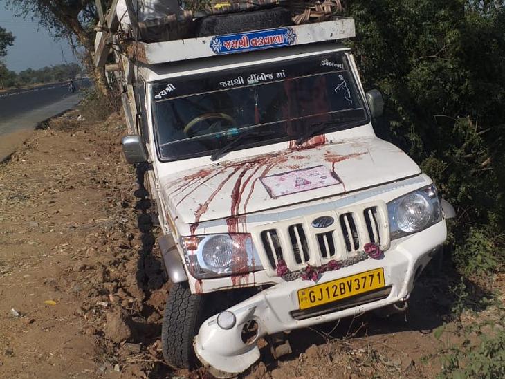 જીપ ઝાડ સાથે અથડાતા 5ની જિંદગીનું દિપ બુઝાયા - Divya Bhaskar
