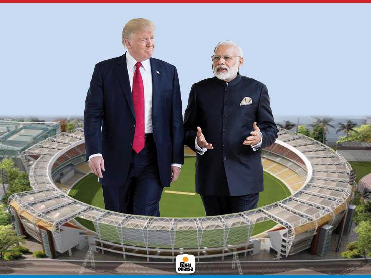 અમેરિકી રાષ્ટ્રપ્રમુખ ડોનાલ્ડ ટ્રમ્પ અને પીએમ મોદી - Divya Bhaskar