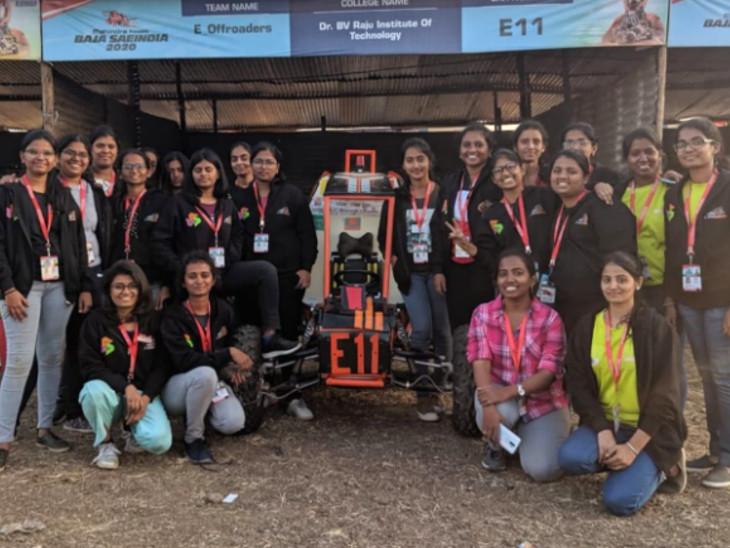 ઓલ ટેરેન વ્હીકલનું નિર્માણ કરનાર મહિલા ટીમ - Divya Bhaskar
