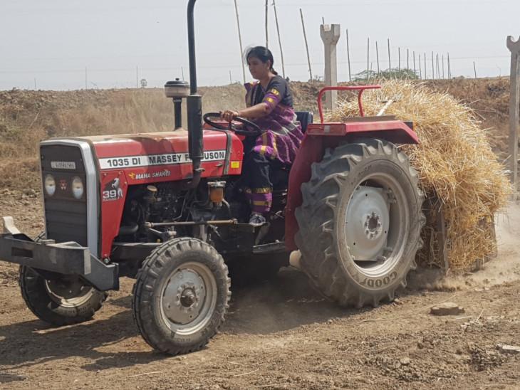 ક્ષારયુક્ત જમીનમાં ખેતીનું સાહસ ખેડતી ગુજરાતની મહિલા, પ્રગતીશીલ ખેડૂત તરીકે સન્માનિત સુરત,Surat - Divya Bhaskar