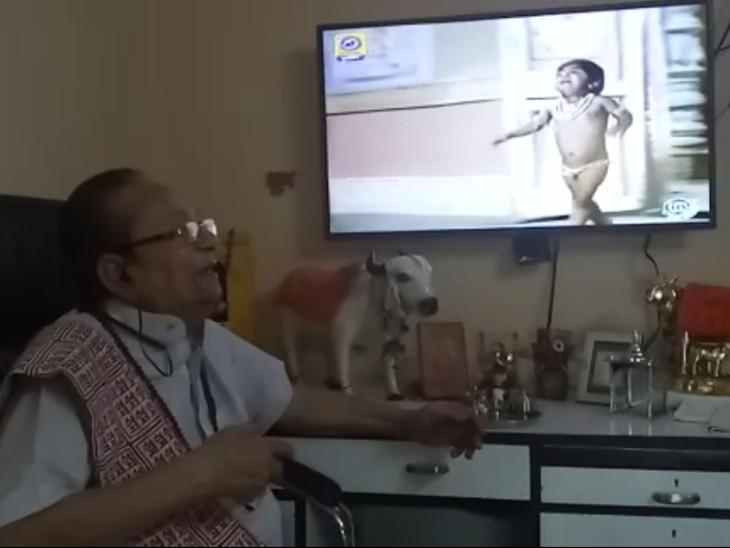 ટીવી પડદાના લંકેશ દૂરદર્શન પર રામાયણ નિહાળી ખુશખુશાલ થયા, અભિનેતા અરવિંદ ત્રિવેદી રામના ભક્ત છે|હિંમતનગર,Himatnagar - Divya Bhaskar