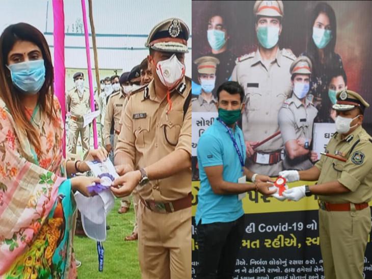પોલીસ કમિશનરે રીવાબા અને ચેતેશ્વર પુજારાનું સન્માન કર્યું - Divya Bhaskar