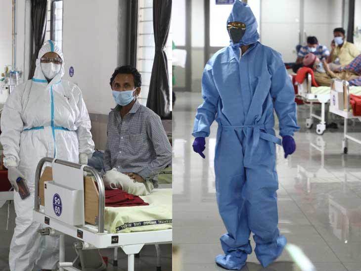 જે દર્દીઓ દાખલ થયા હોય ત્યાં દર્દીના કોઈ પણ સગાને ચેપ ન લાગે એટલે સલામતી માટે વોર્ડમાં પ્રવેશ અપાતો  નથી - Divya Bhaskar