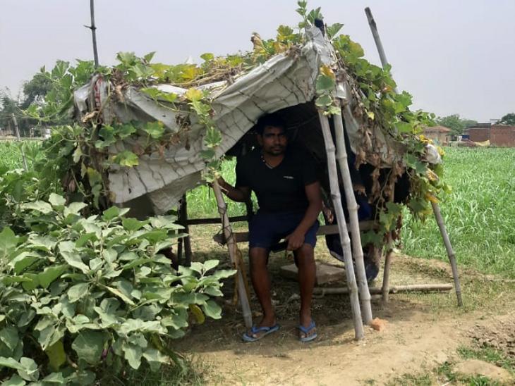 દિનેશ મુંબઈના મલાડમાં રહેતા હતા ત્યાં તેઓ આરઓ ફિટિંગનું કામ કરતા હતા. ગામે પાછા આવ્યા તો 14 દિવસ માટે ઘરથી દૂર રહેવું પડે છે. એટલા માટે તેમણે ખેતરમાં જ નાની ઝૂંપડી બનાવીન દીધી અને તેમા જ રહે છે.