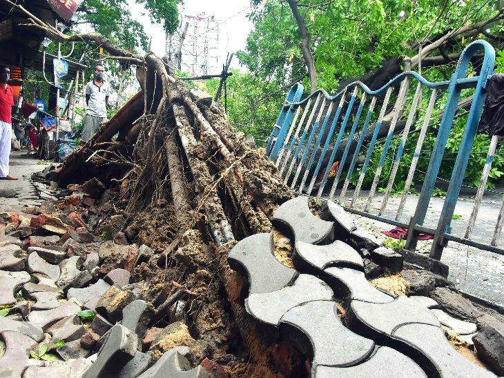 વીજળી અને કેબલના થાંભલાઓ સહિત ટેલિફોન અને ઈન્ટરનેટ લાઈનોને પણ નુકસાન થયું