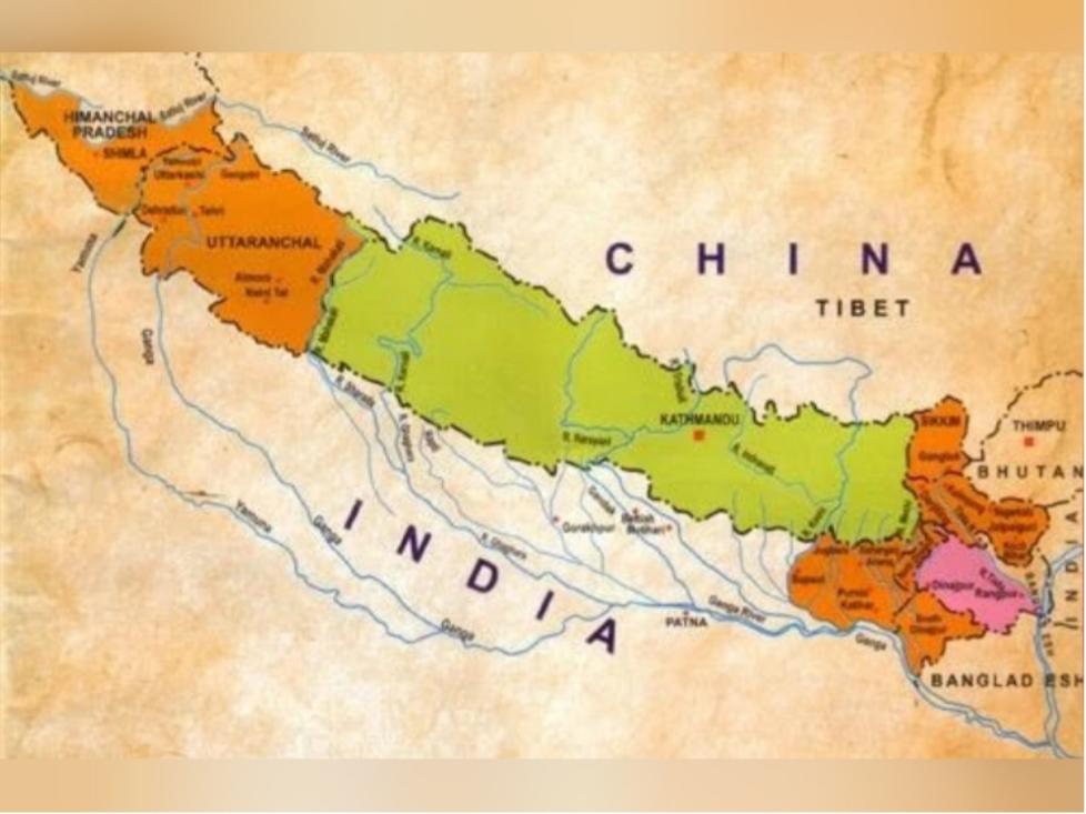 1816 પહેલા નેપાળનો નકશો.
