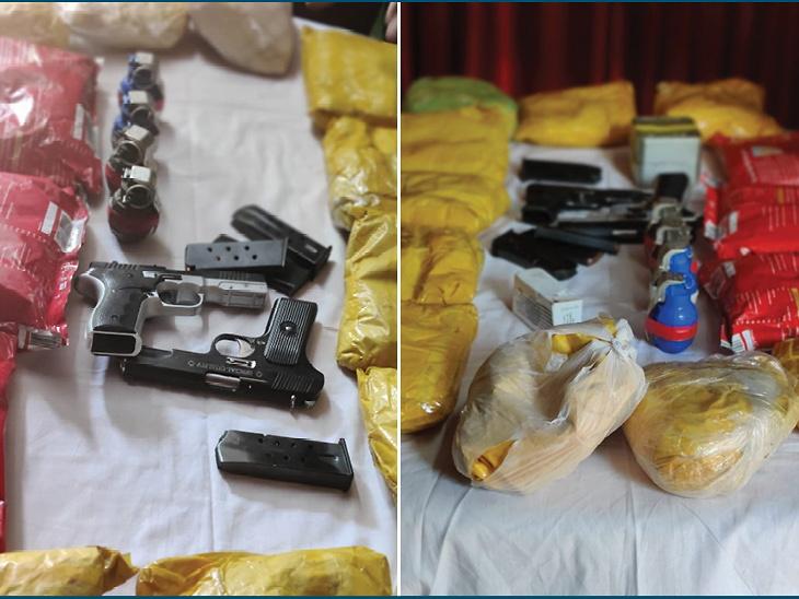 આતંકીઓના 2 સહયોગીની ધરપકડ, 65 કરોડ રૂપિયાનું ડ્રગ્સ જપ્ત; 2 પિસ્તોલ અને 4 ગ્રેનેડ પણ મળ્યા|ઈન્ડિયા,National - Divya Bhaskar