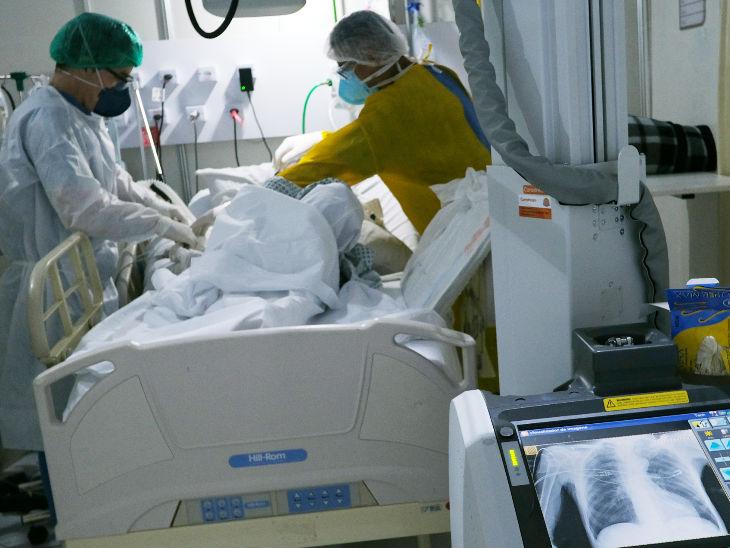 બ્રાઝીલના રિયો ડી જેનેરિયો શહેરની એક હોસ્પિટલમાં કોરોના દર્દીની સારવાર ચાલી રહી છે