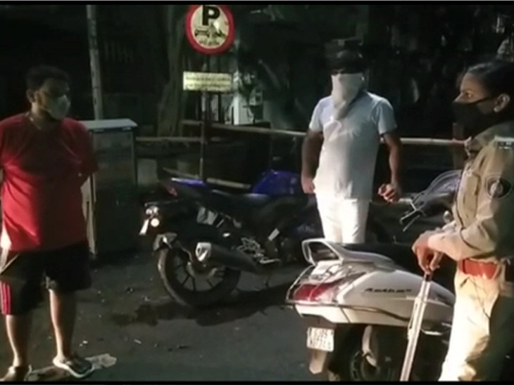 આરોગ્ય મંત્રી કુમાર કાનાણીનો પુત્ર 'MLA' લખેલી કારમાં આવ્યો, કોન્સ્ટેબલ સુનિતા યાદવે પાટીયું ઉતરાવ્યું સુરત,Surat - Divya Bhaskar