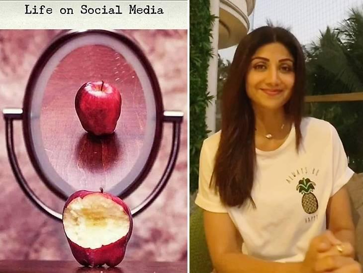 શિલ્પા શેટ્ટીએ અડધા ખાધેલા સફરજનનો ફોટો શેર કરીને સોશિયલ મીડિયાની હકીકત જણાવી, કહ્યું-'કોઈની જિંદગી પરફેક્ટ નથી' બોલિવૂડ,Bollywood - Divya Bhaskar