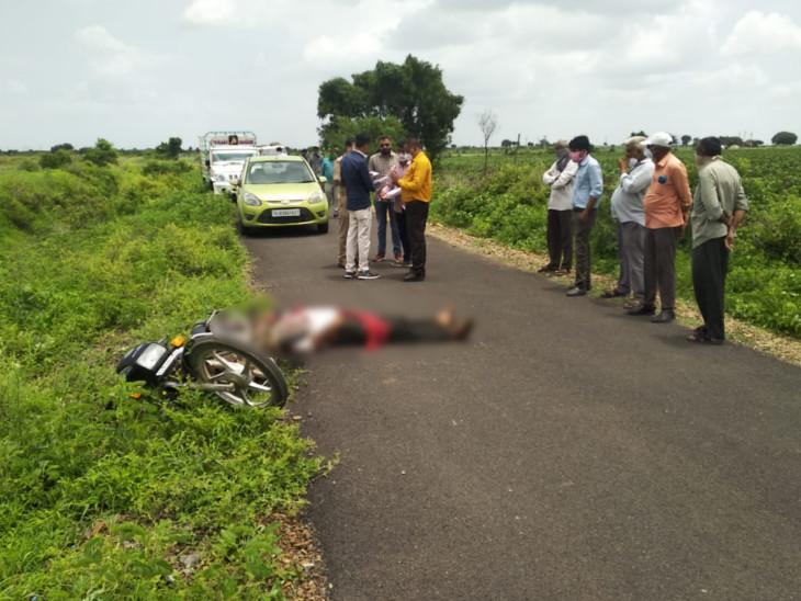 કોટડાસાંગાણીના દેતડીયામાં જમીન મામલે સરપંચે 3 ગોળી મારી કૌટુંબિક ભાઈની હત્યા કરી|રાજકોટ,Rajkot - Divya Bhaskar
