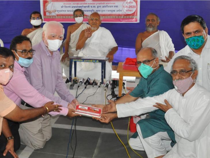 અયોધ્યામાં રામ મંદિરના શિલાન્યાસ માટે જૈન સમાજ દ્વારા 11 કિલો ચાંદીનું દ્રવ્ય અર્પણ કરાયું|સુરત,Surat - Divya Bhaskar