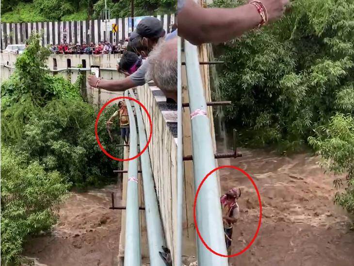 અમરેલીના ચલાલામાં 5 ઈંચ, ધારીમાં 3 ઈંચ વરસાદ, જૂનાગઢમાં વોકળા પાસે પાણી ઘૂસી જતા 5 લોકો ફસાયા|રાજકોટ,Rajkot - Divya Bhaskar