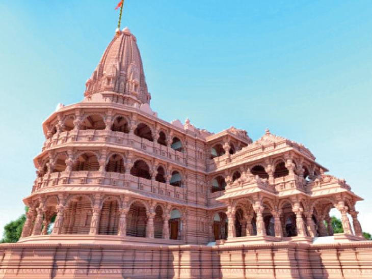 શ્રીરામ મંદિરની ઊંચાઈ 33 ફૂટ વધાર્યા પછી તેનાં ગુંબજોની સંખ્યા 300થી વધુ થશે. - Divya Bhaskar