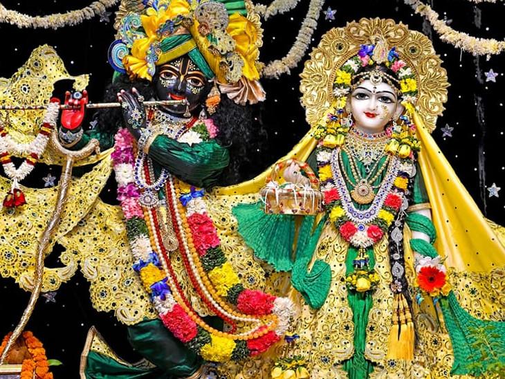 આ વર્ષે હરેકૃષ્ણ મંદિર ભાડજ ખાતે જન્માષ્ટમીની ઓનલાઈન માધ્યમ દ્વારા ઉજવણી અમદાવાદ,Ahmedabad - Divya Bhaskar