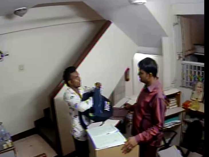ગોરધન ઝડફિયા પર હુમલો કરવા આવેલા છોટા શકીલના શાર્પશૂટરના CCTV સામે આવ્યા, હોટેલમાં એન્ટ્રી સમયે બેગ ચેક થઈ હતી અમદાવાદ,Ahmedabad - Divya Bhaskar