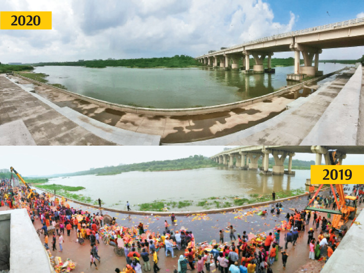 અમદાવાદ શહેરમાં 25 હજારથી વધુ મૂર્તિઓનું સ્થળ પર વિસર્જન કરાયાની પ્રથમ ઘટના અમદાવાદ,Ahmedabad - Divya Bhaskar