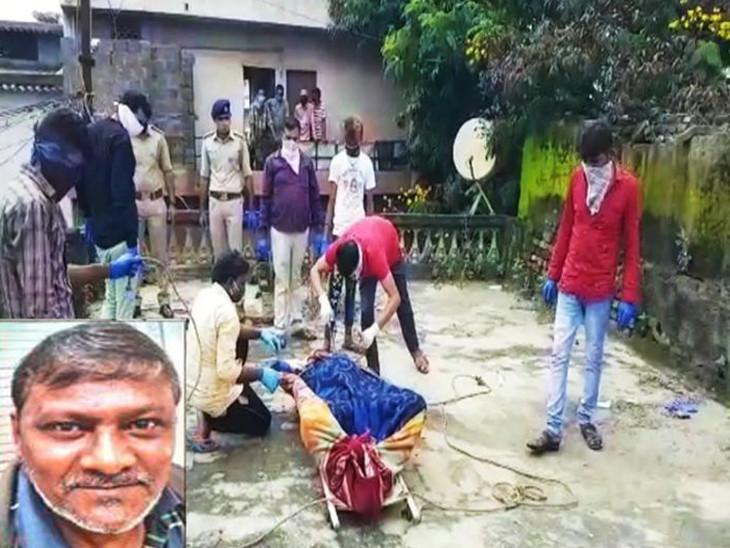 સ્ટોન કિલરનો મૃતદેહ ગઈકાલે મવડી પ્લોટ નવરંગપરા-11 વિસ્તારમાંથી મળી આવ્યો હતો - Divya Bhaskar