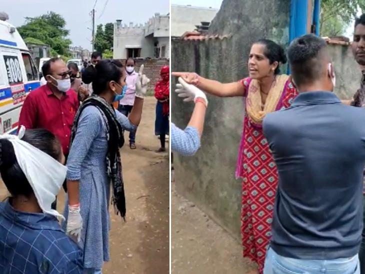 રાજકોટના ઉંડ દહીંસરામાં કોરોનાના દર્દીને લેવા જતા માથાકૂટ, સિવિલમાં દર્દીને સાજા કરવાના બદલે મોત આપતા હોવાનો પરિવારનો આક્ષેપ રાજકોટ,Rajkot - Divya Bhaskar