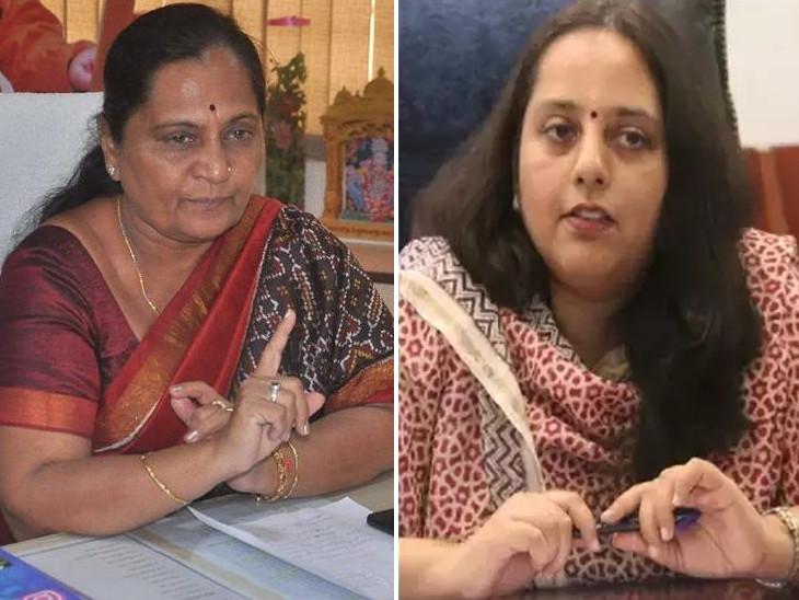 મેયર બીનાબેન આચાર્ય અને કલેક્ટર રેમ્યા મોહન (ફાઇલ તસવીર). - Divya Bhaskar