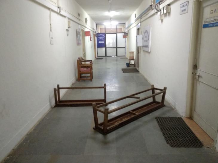 શુક્રવારે આરોગ્ય વિભાગ દ્વારા કલેકટર કચેરીમાં સામુહિક આરોગ્ય ચકાસણી કરવામાં આવી હતી - Divya Bhaskar