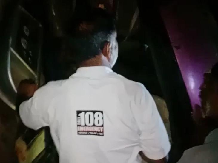 108 એમ્બ્યુલન્સની ટીમ