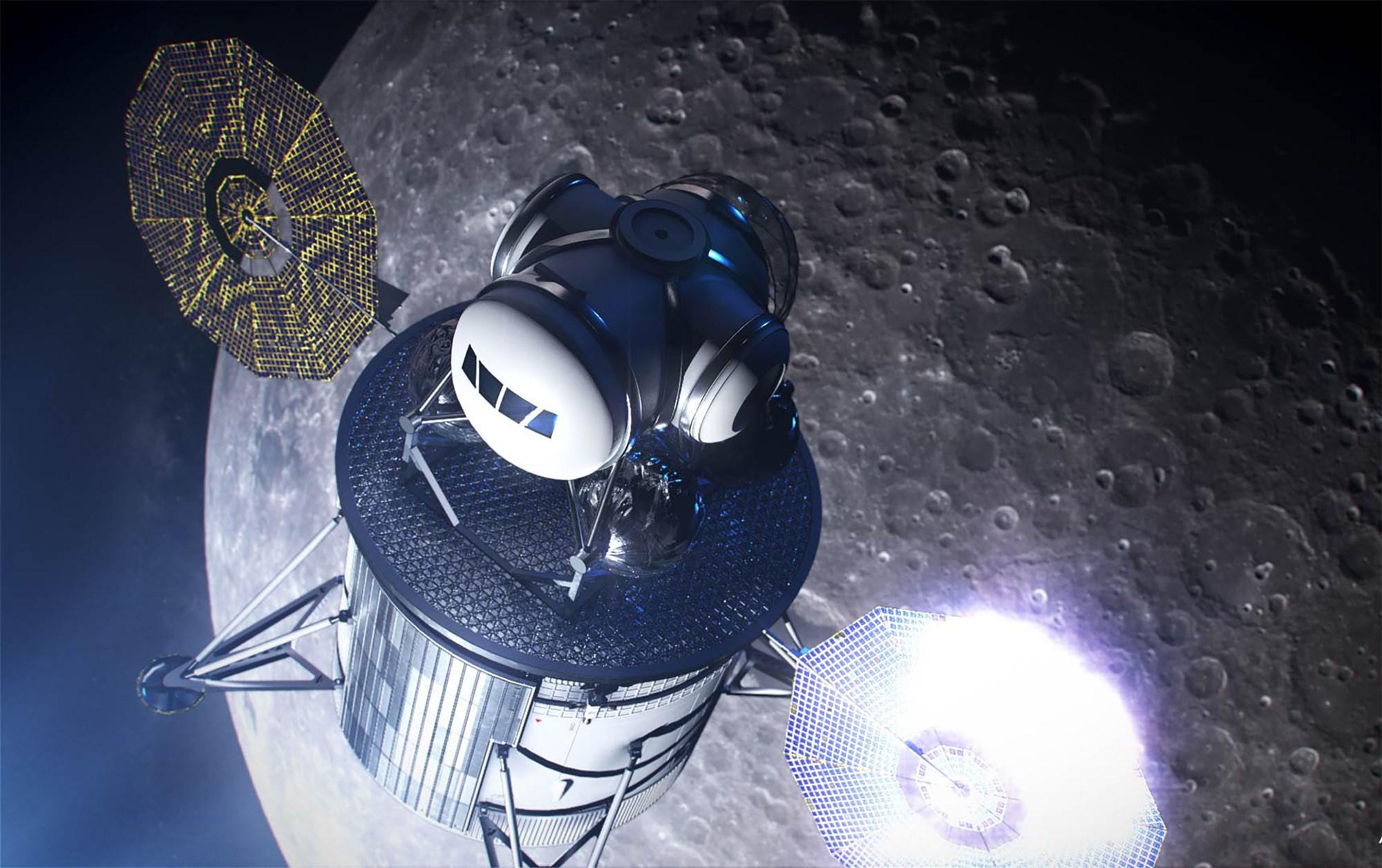 નાસાના ચંદ્ર પર મિશન મોકલવા માટે વપરાય છે તે  લેંડરનું એક મોડેલ છે.  સ્પેસ એજન્સીએ જૂન 2019 માં આ ફોટો પ્રકાશિત કર્યો હતો. - Divya Bhaskar