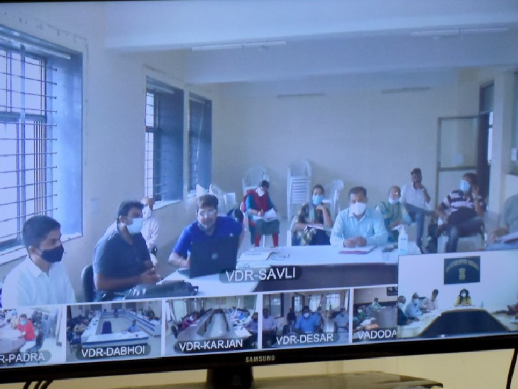 તાલુકા આરોગ્ય અધિકારીઓ અને આરોગ્ય કેન્દ્રોના તબીબી અધિકારીઓ સાથે વીડિયો કોન્ફરન્સ