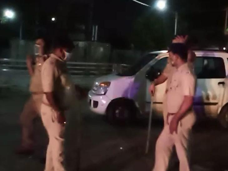 ઘટના સ્થળે પોલીસની ટીમ
