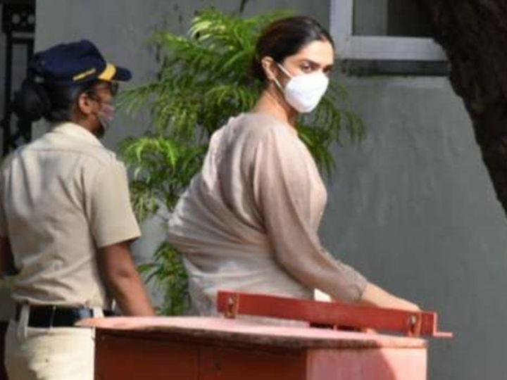 દીપિકા પાદુકોણ સવારે 9.50 વાગે NCB ગેસ્ટહાઉસ પહોંચી હતી, સાડા પાંચ કલાક પૂછપરછ થઈ - Divya Bhaskar