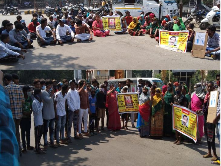 હાથરસમાં ગેંગરેપના આરોપીઓને ફાંસી આપવાની માંગ સાથે ક્રાંતિ સેનાનું ભાવનગરમાં રસ્તા રોકો આંદોલન, રાજકોટમાં દલિત સમાજની કેન્ડલ માર્ચ|ભાવનગર,Bhavnagar - Divya Bhaskar