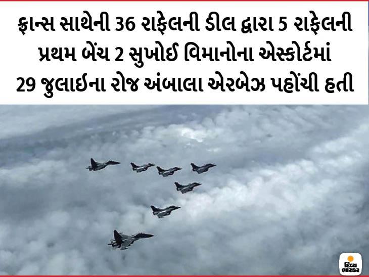 ફ્રાન્સથી 3-4 રાફેલ જેટ નવેમ્બરના પ્રથમ સપ્તાહમાં ભારત આવશે; જુલાઈમાં મળેલા 5 વિમાન લદ્દાખમાં તૈનાત છે|ઈન્ડિયા,National - Divya Bhaskar