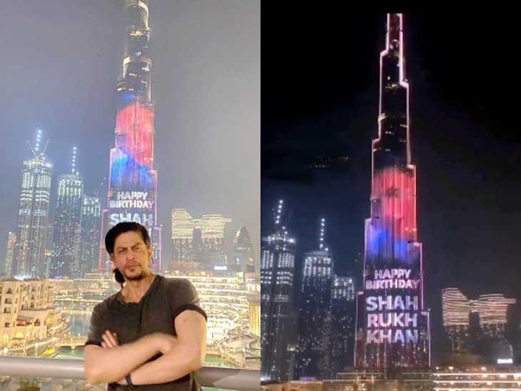 બુર્જ ખલીફા પર શાહરુખ ખાનનું નામ, એક્ટરે કહ્યું- 'વિશ્વની સૌથી ઊંચી સ્ક્રીન પર મારી જાતને જોવાની મજા આવી'|બોલિવૂડ,Bollywood - Divya Bhaskar