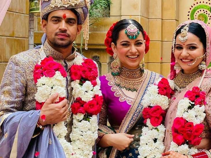 અક્ષત-રીતુ લગ્નના તાંતણે બંધાયા, કંગના ટ્રેડિશનલ જ્વેલરીમાં જોવા મળી; વેડિંગની 10 ખાસ તસવીરો|બોલિવૂડ,Bollywood - Divya Bhaskar