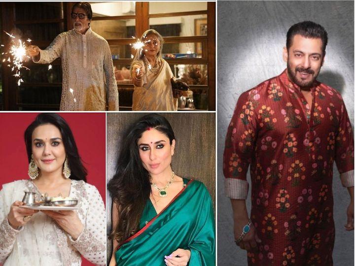 અમિતાભ બચ્ચન, સલમાન ખાનથી લઈને કરીના કપૂર સુધી, બોલિવૂડ સેલેબ્સે ખાસ અંદાજમાં ફેન્સને દિવાળીની શુભકામના આપી|બોલિવૂડ,Bollywood - Divya Bhaskar