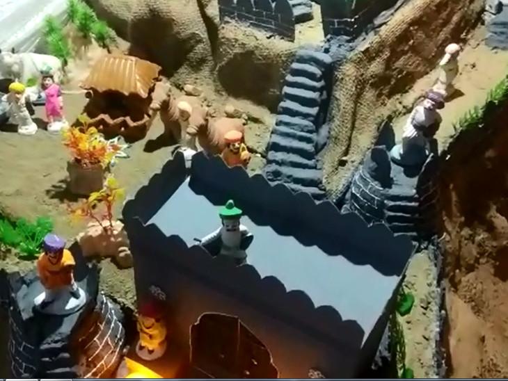 કિલ્લો બનાવવા માટે ખાસ માટીનો ઉપયોગ કરાયો