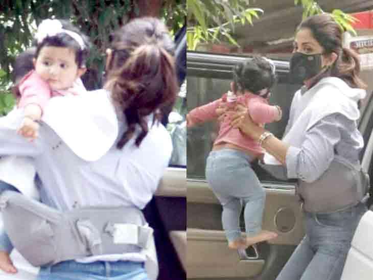 પહેલી જ વાર શિલ્પા શેટ્ટીની દીકરી સમિશાની તસવીરો સામે આવી|બોલિવૂડ,Bollywood - Divya Bhaskar