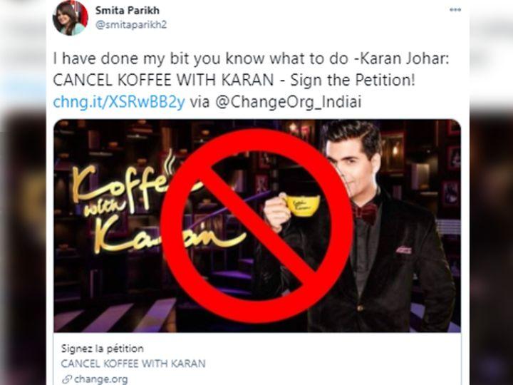 ઇન્ટરનેટ યુઝર્સે કરણ જોહર પર નિશાન તાક્યું, 'કોફી વિથ કરણ' પર પ્રતિબંધ મૂકવા ઓનલાઈન પિટિશન સાઈન કરી રહ્યા છે બોલિવૂડ,Bollywood - Divya Bhaskar