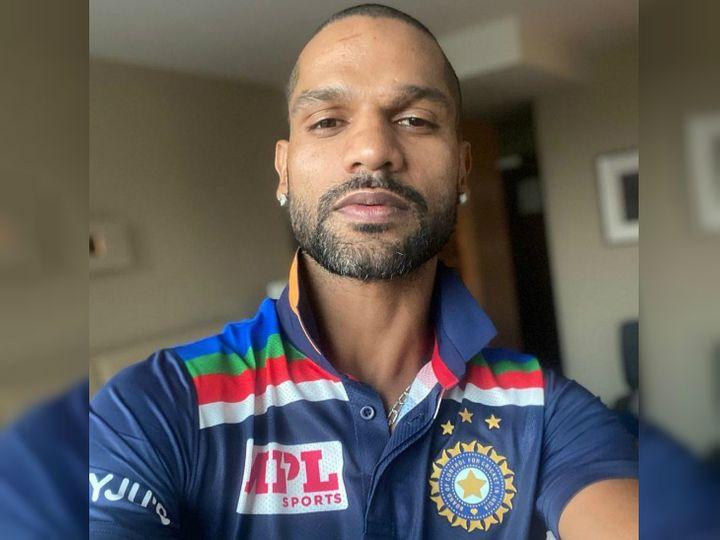 રેટ્રો થીમની ટી-શર્ટમાં ધવને ફોટો શેર કર્યો, કહ્યું- નવા મોટિવેશન સાથે જીતવા માટે તૈયાર|ક્રિકેટ,Cricket - Divya Bhaskar