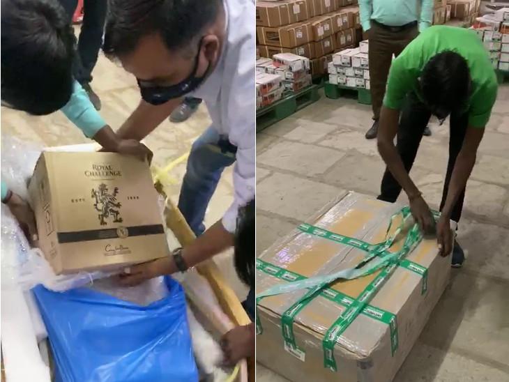 રાજકોટ SOGએ સેફ એક્સપ્રેસ કુરિયરના ગોડાઉનમાં દરોડા પાડતા દારૂનો જથ્થો મળ્યો - Divya Bhaskar