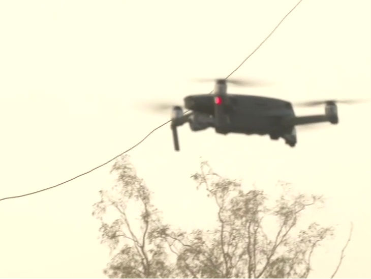 The movement is being monitored by drones
