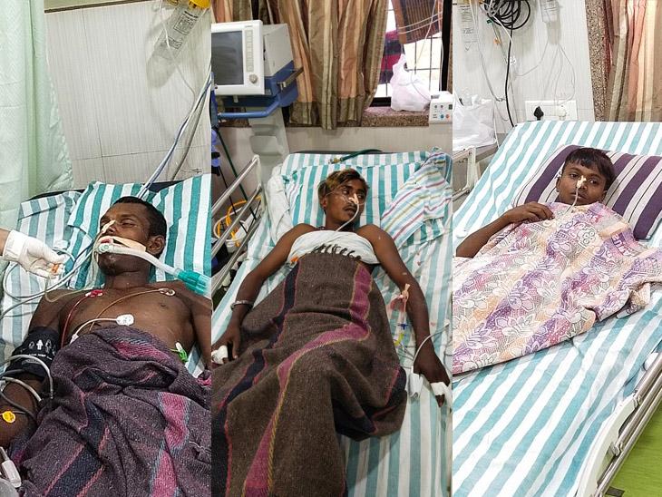 ઝેરી પ્રવાહી પીધા બાદ તબીયત લથડતાં ત્રણેય યુવકોને ગંભીર હાલતમાં હોસ્પિટલ ખસેડાયા હતા. - Divya Bhaskar