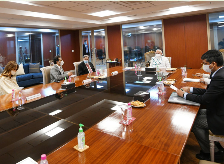 During his visit yesterday, PM Modi interacted with officials of the Serum Institute.