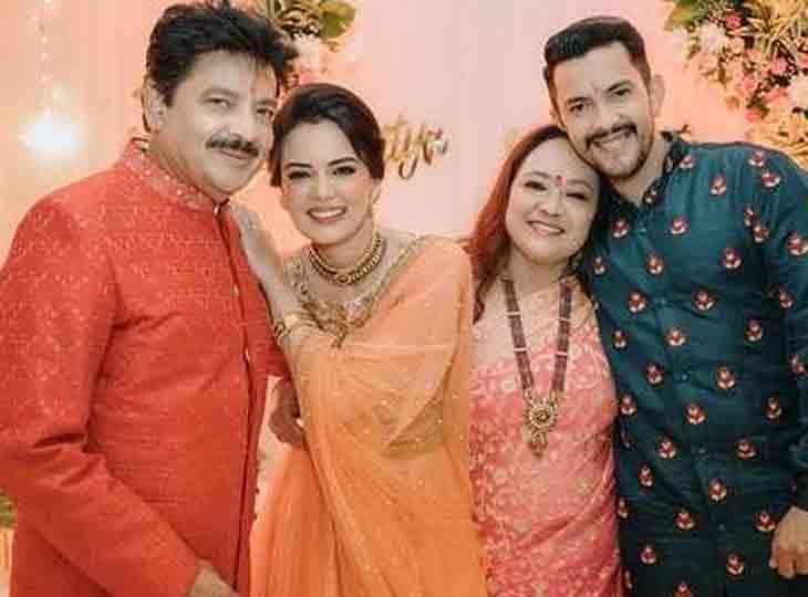 આદિત્ય નારાયણ તથા શ્વેતા અગ્રવાલના લગ્નની વિધિ શરૂ, સૌ પહેલા તિલક સેરેમની થઈ ટીવી,TV - Divya Bhaskar