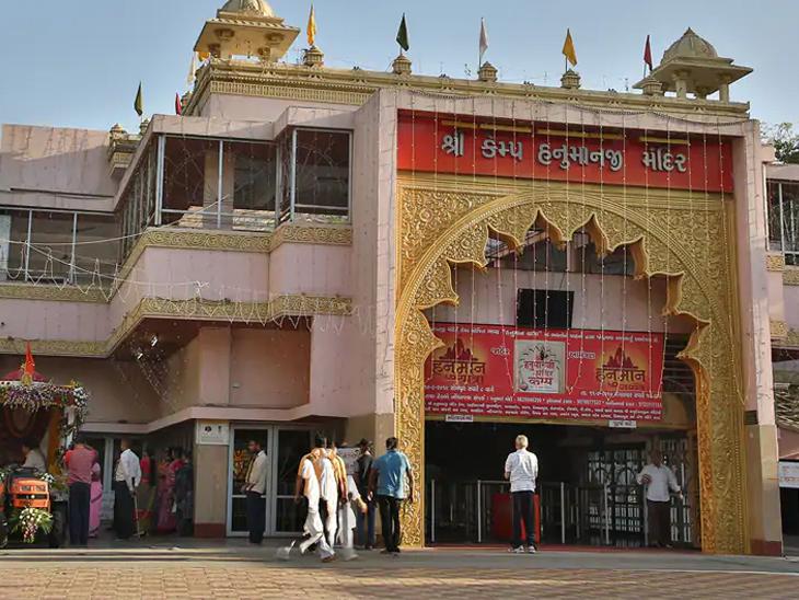 શાહીબાગ કેમ્પ હનુમાન મંદિરમાં દર્શન કરવા જતાં પહેલાં ભક્તોએ આર્મીના ગેટ પર ફોન સ્વીચ ઓફ કરી જવાનું રહેશે|અમદાવાદ,Ahmedabad - Divya Bhaskar