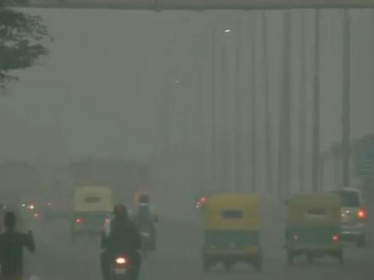 દિલ્હીમાં મંગળવાર સાંજનો નજારો, રાજધાનીમાં પ્રદુષણની સ્થિતિમાં સુધારો જોવા મળ્યો નથી
