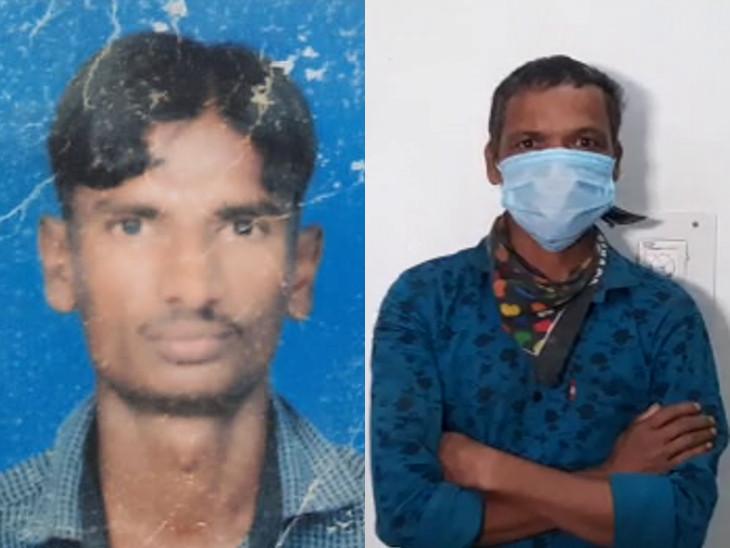 મૃતક નિલેશની ફાઈલ તસવીર અને આરોપી વિનુ વસાવાની પોલીસે અટકાયત કરી. - Divya Bhaskar