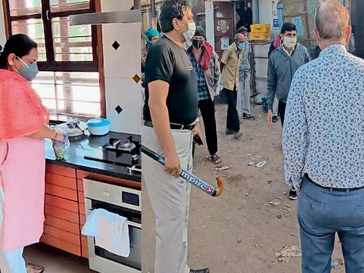 અધિકારીનું રાજકોટ, ડે. કમિશનર હોકી લઈ ચેકિંગમાં નીકળ્યા, ગંદકી કરતા 116 ધંધાર્થીઓને દંડ ફટકાર્યો|રાજકોટ,Rajkot - Divya Bhaskar