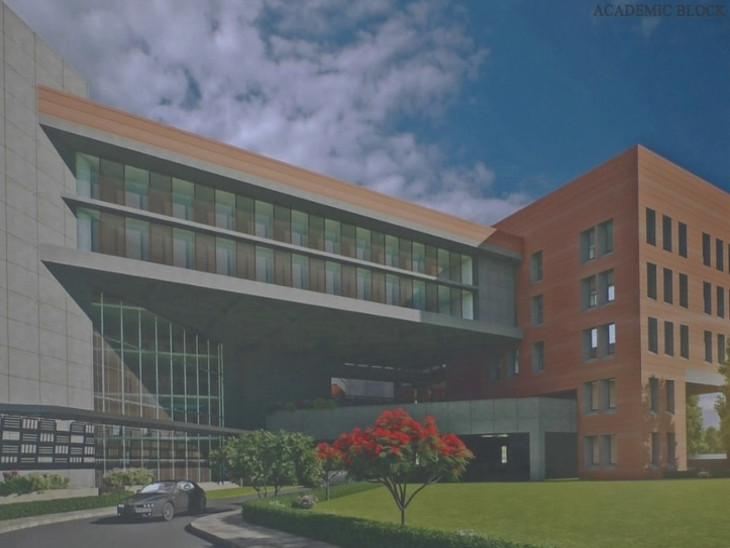 એઇમ્સ હોસ્પિટલમાં એકેડેમિક બ્લોક બનાવવામાં આવશે.