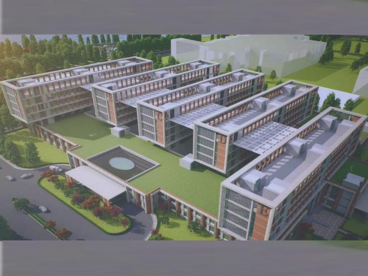 રાજકોટ એઇમ્સ હોસ્પિટલનું માળખું જાહેર કરવામાં આવ્યું. - Divya Bhaskar